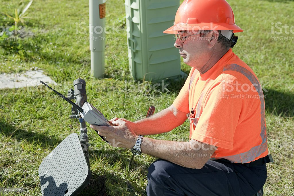 Meter Reading stock photo