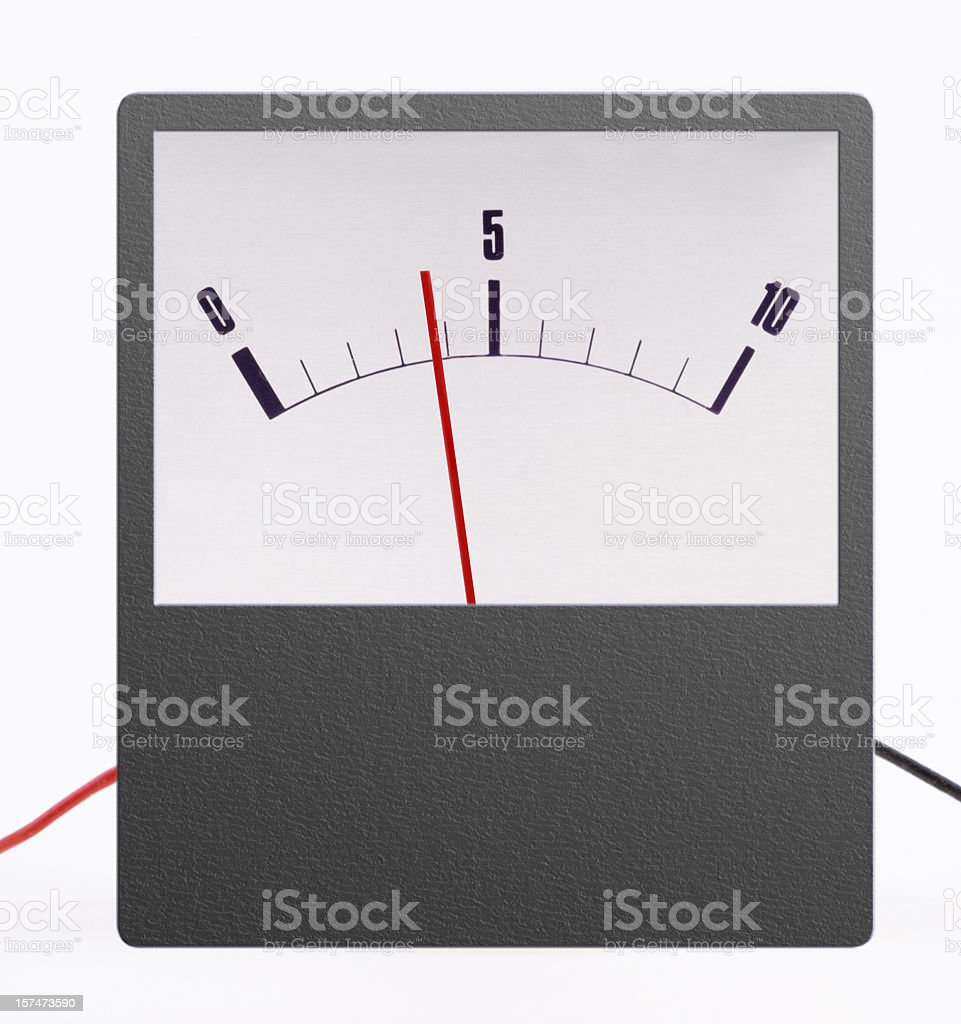 meter with frame reading 4 royalty-free stock photo
