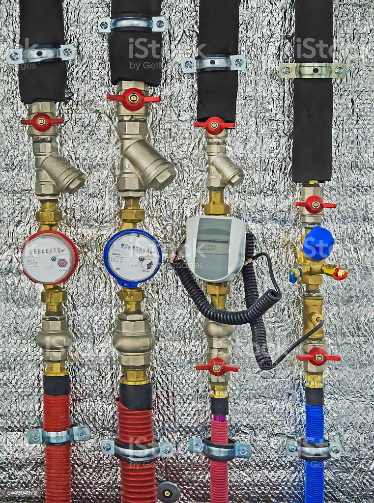 Metering devices stock photo