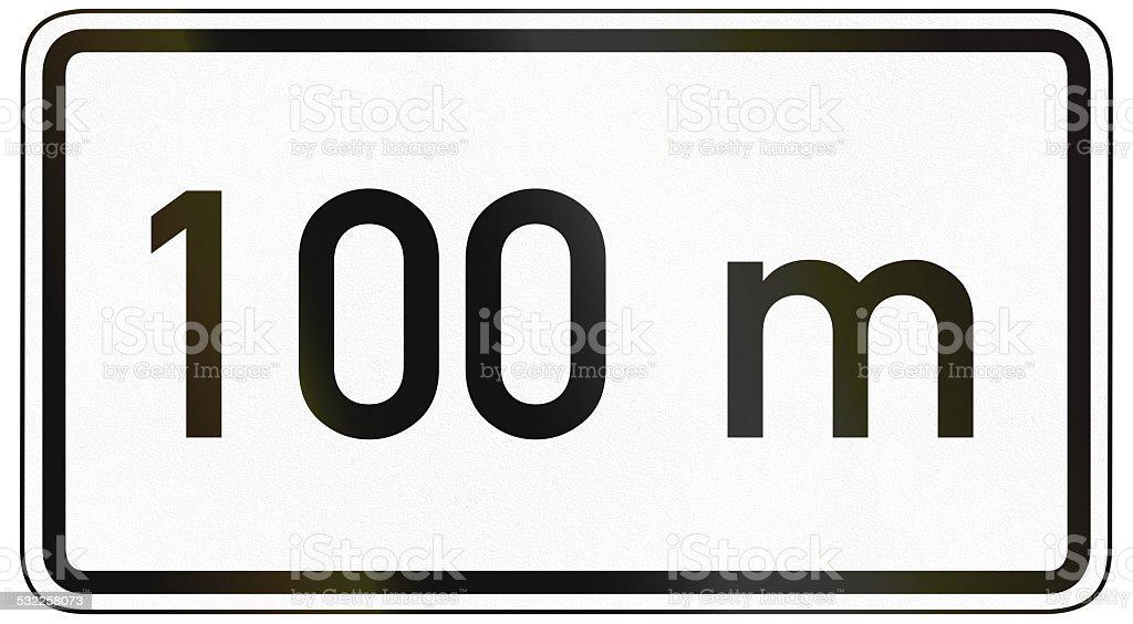 100 Meters Ahead stock photo