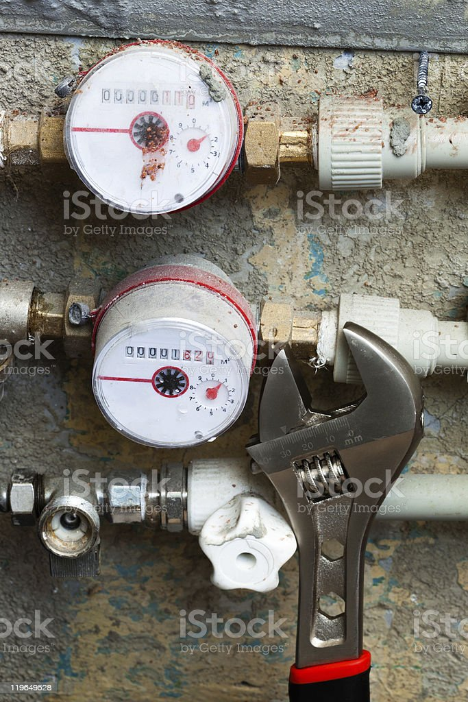 meters for water royalty-free stock photo