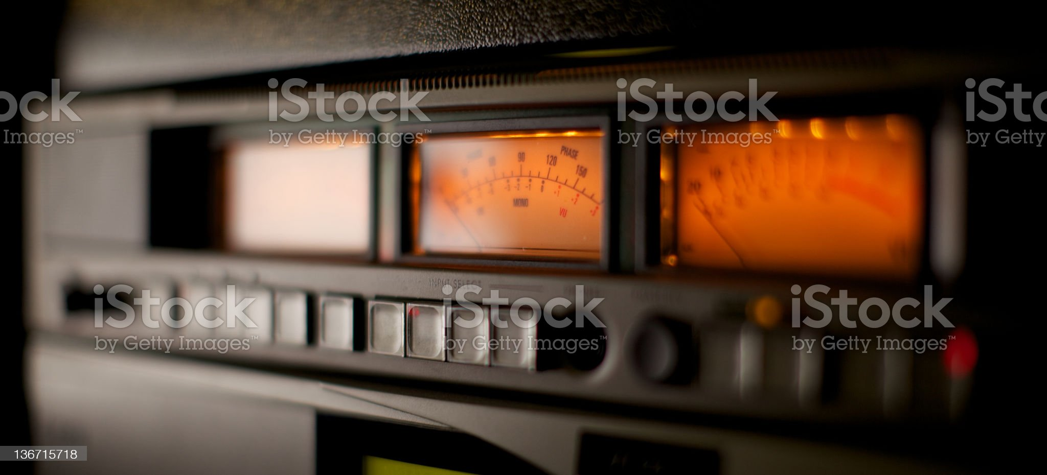 VU Meters royalty-free stock photo