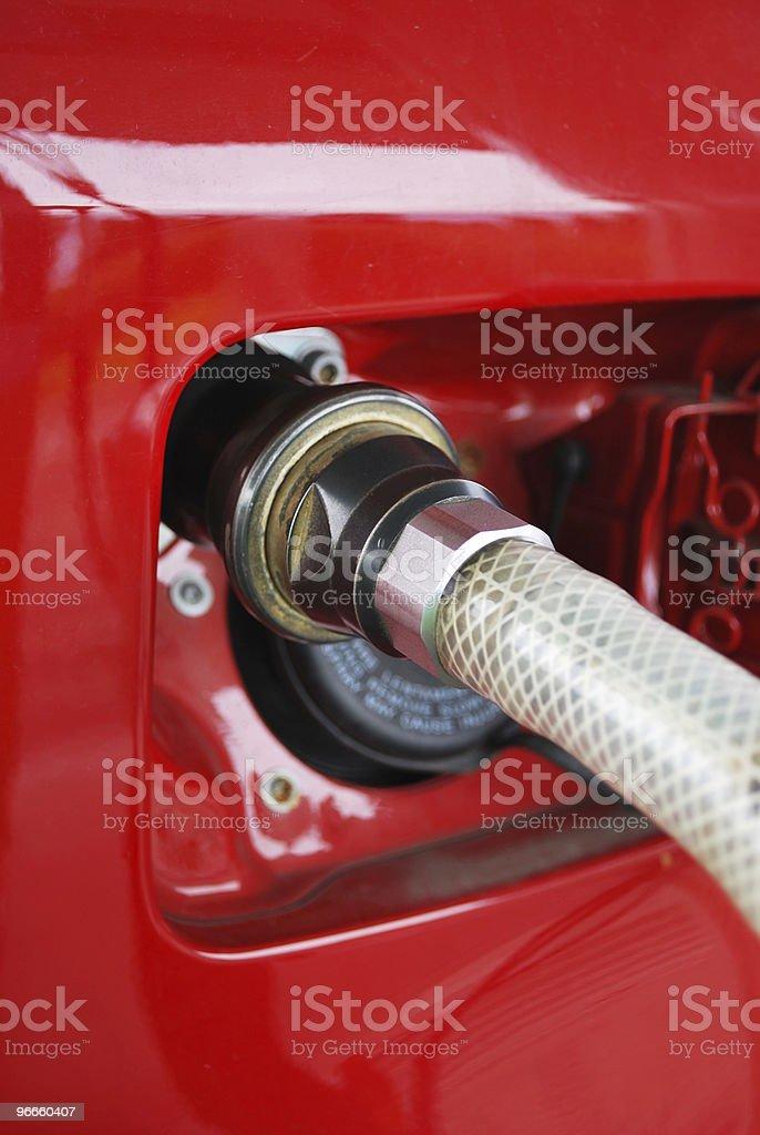 Methane car fueling royalty-free stock photo