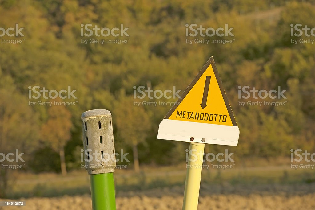 Methane Gas Exhaust Pipe royalty-free stock photo