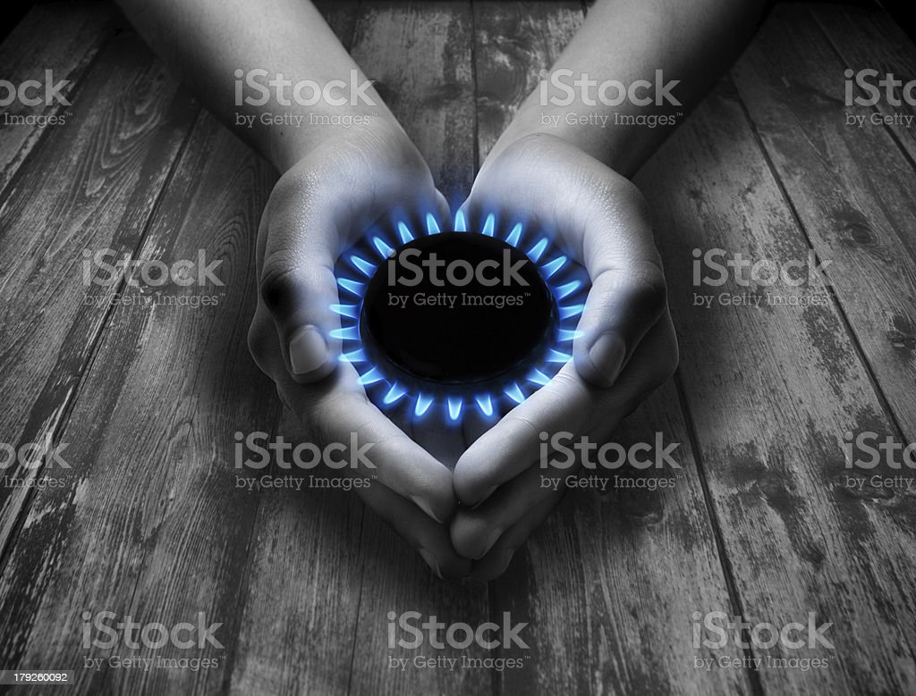 methane in your hands stock photo