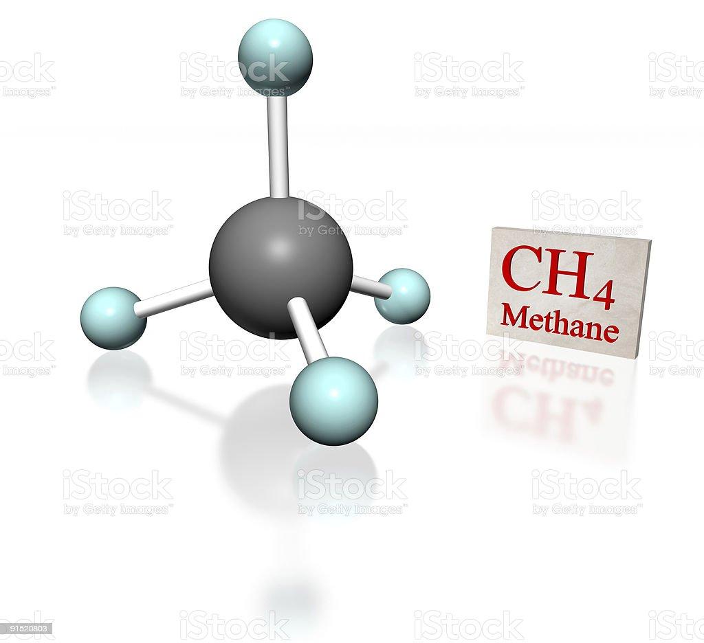Methane molecular model stock photo