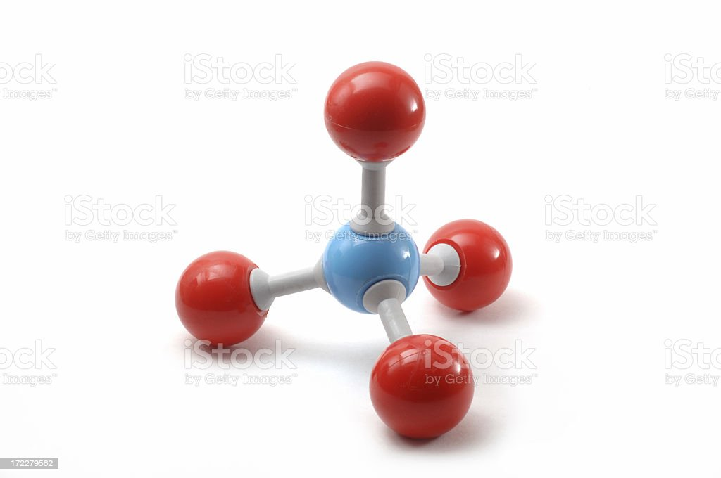 Methane molecule royalty-free stock photo