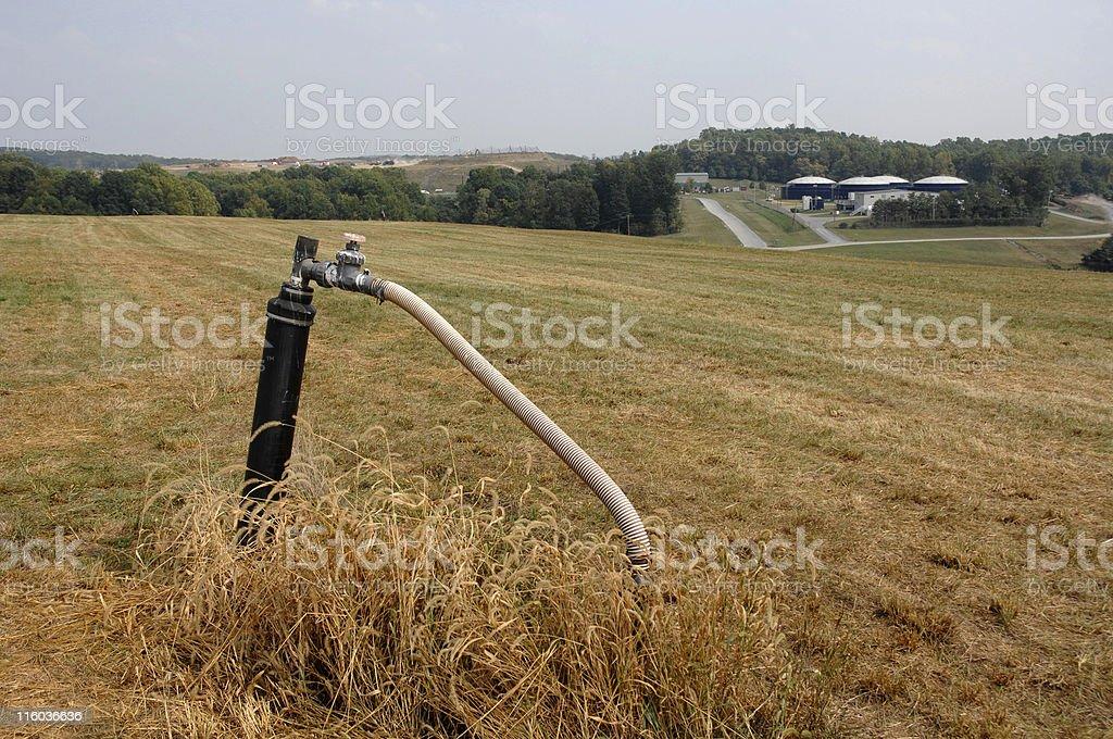 methane vacuum well royalty-free stock photo