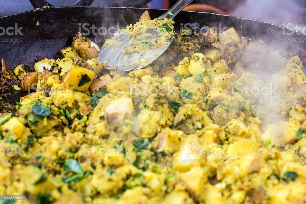 Methi Butteta in Borough Market, London stock photo