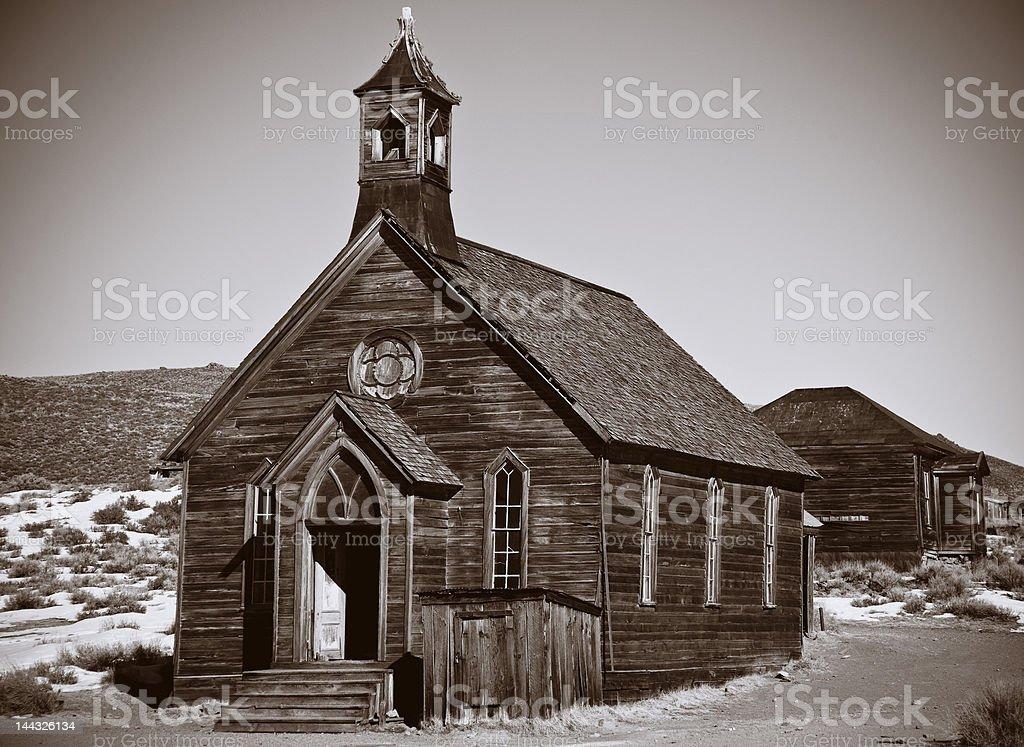 Methodist Church, Bodie, CA royalty-free stock photo