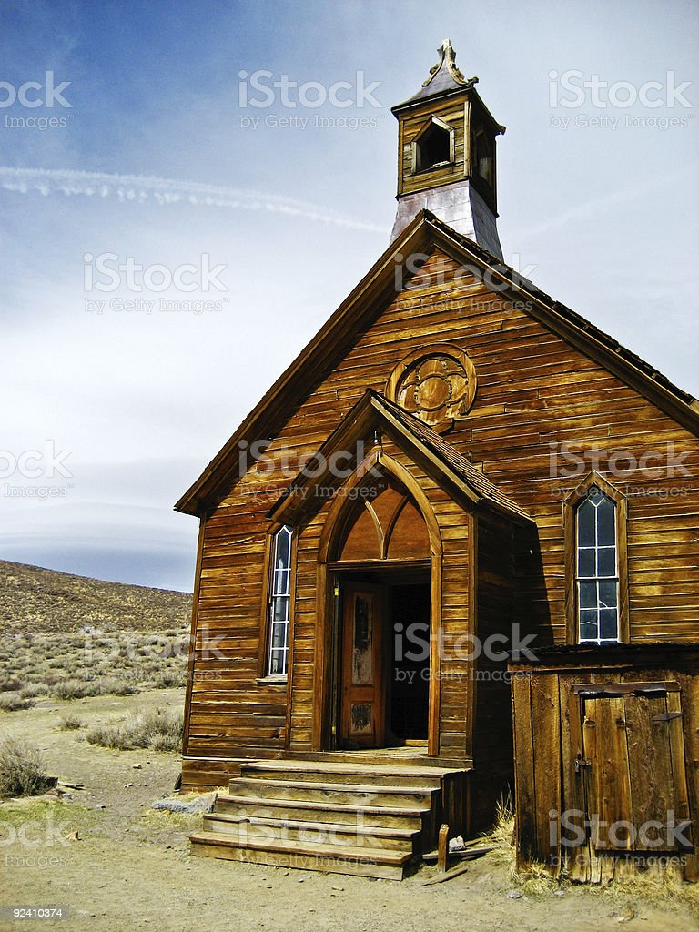Methodist Church Bodie Ghost Town stock photo