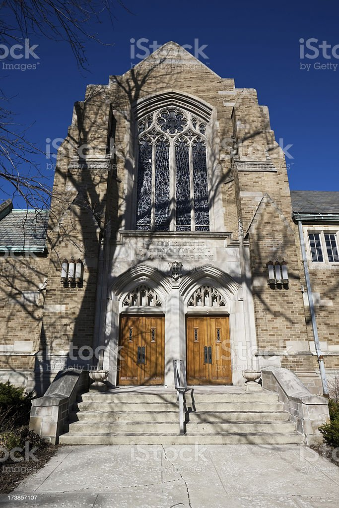 Methodist Church in Beverly Chicago stock photo