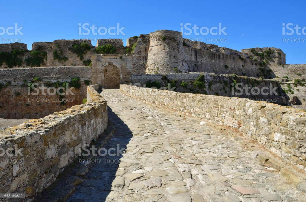 Methoni castle, Greece stock photo