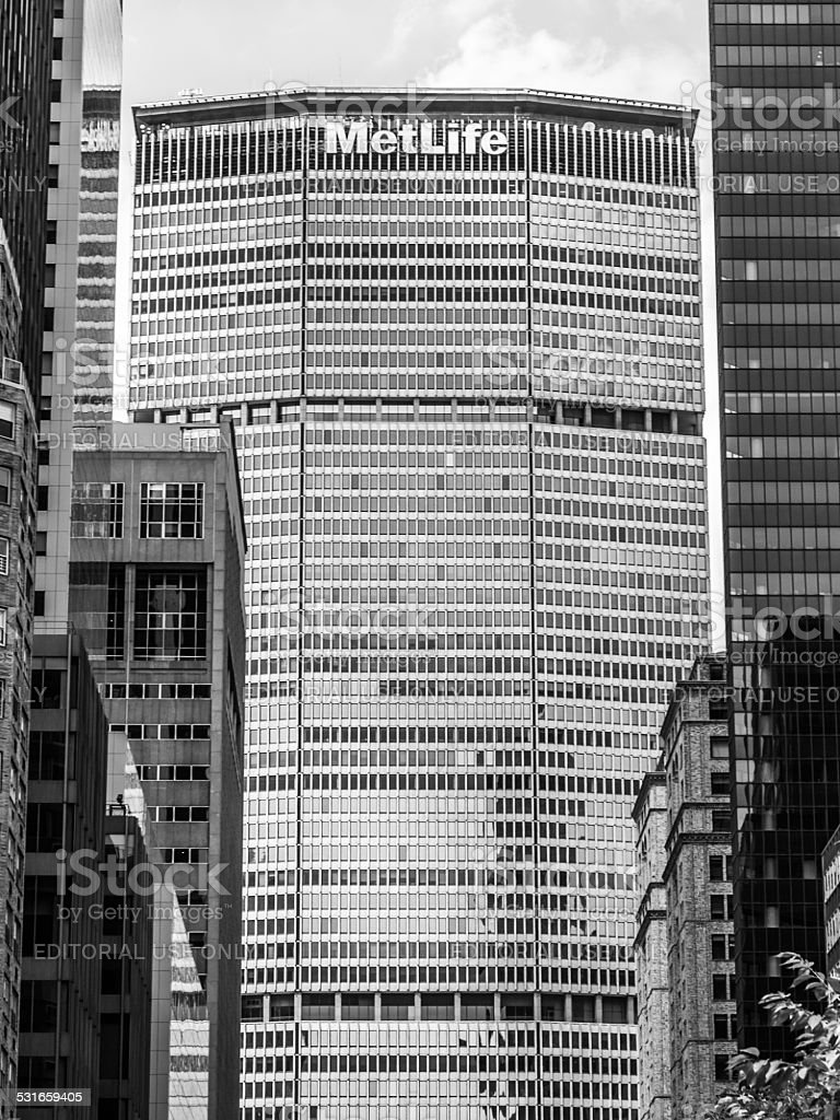 metlife building new york stock photo