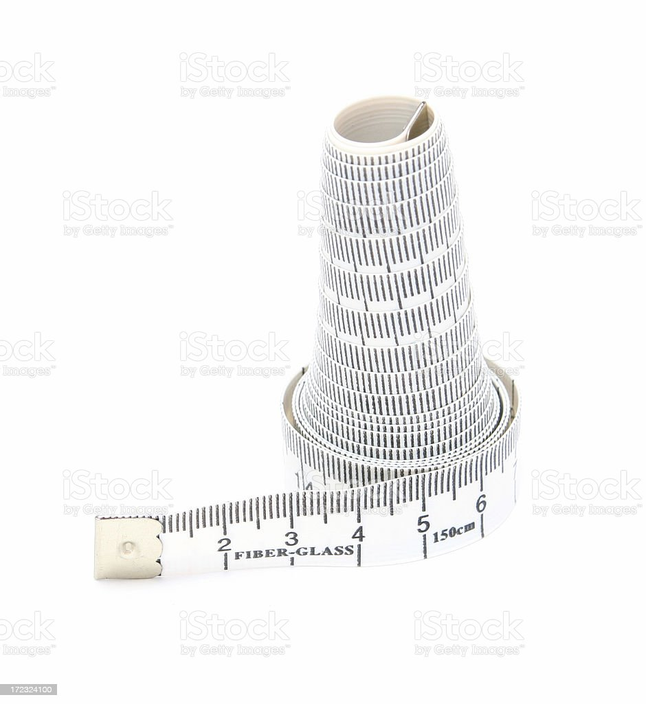 Metre measure ruler, metre-stick royalty-free stock photo