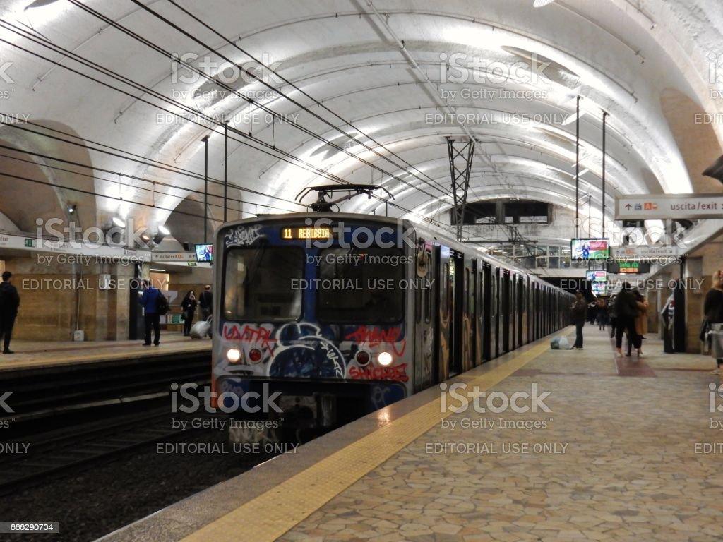Metro a Roma Termini stock photo
