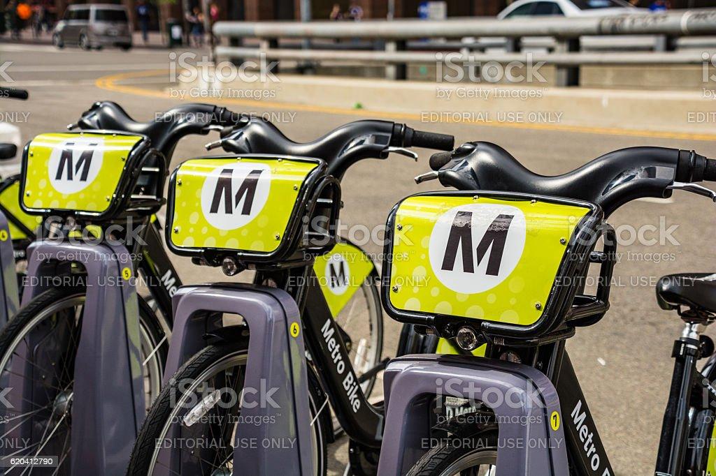 Metro Bike in Los Angeles stock photo
