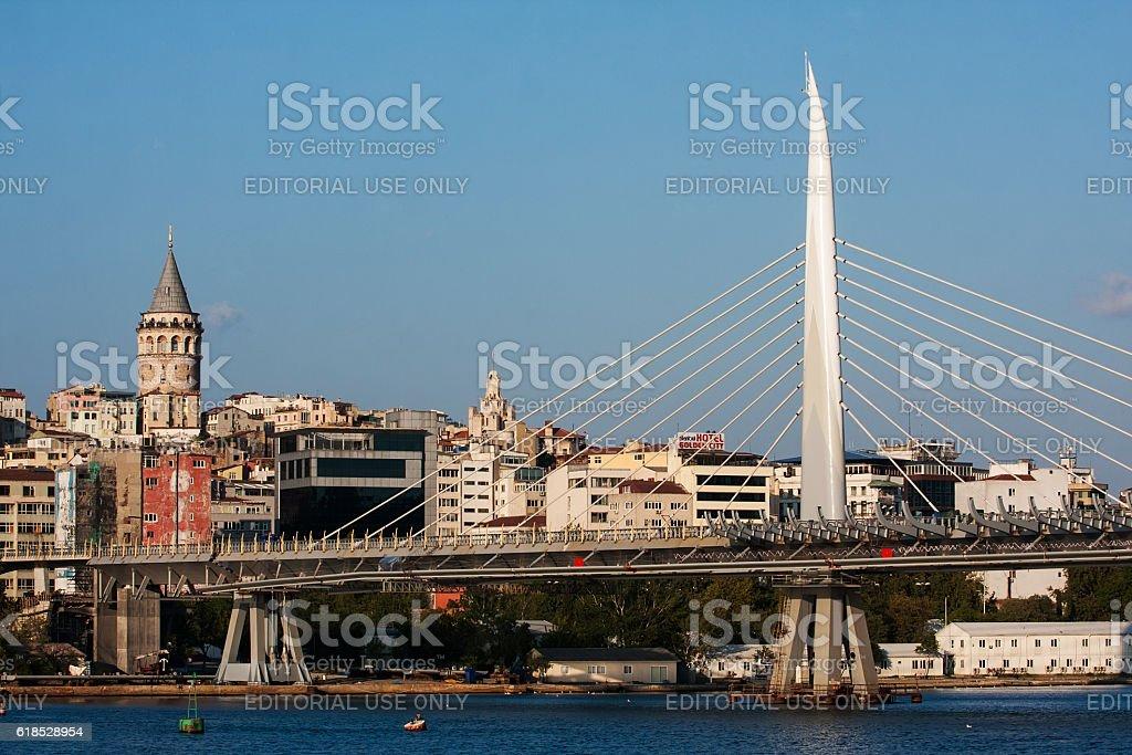 Metro bridge Istanbul stock photo
