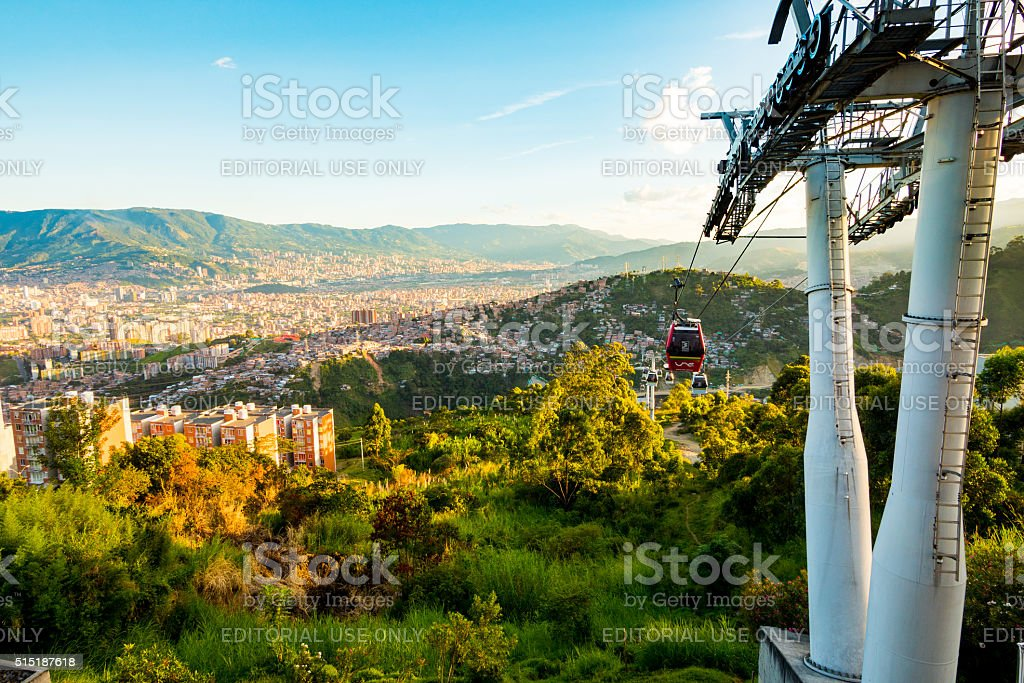 Metro Cable in Medellin, Colombia stock photo