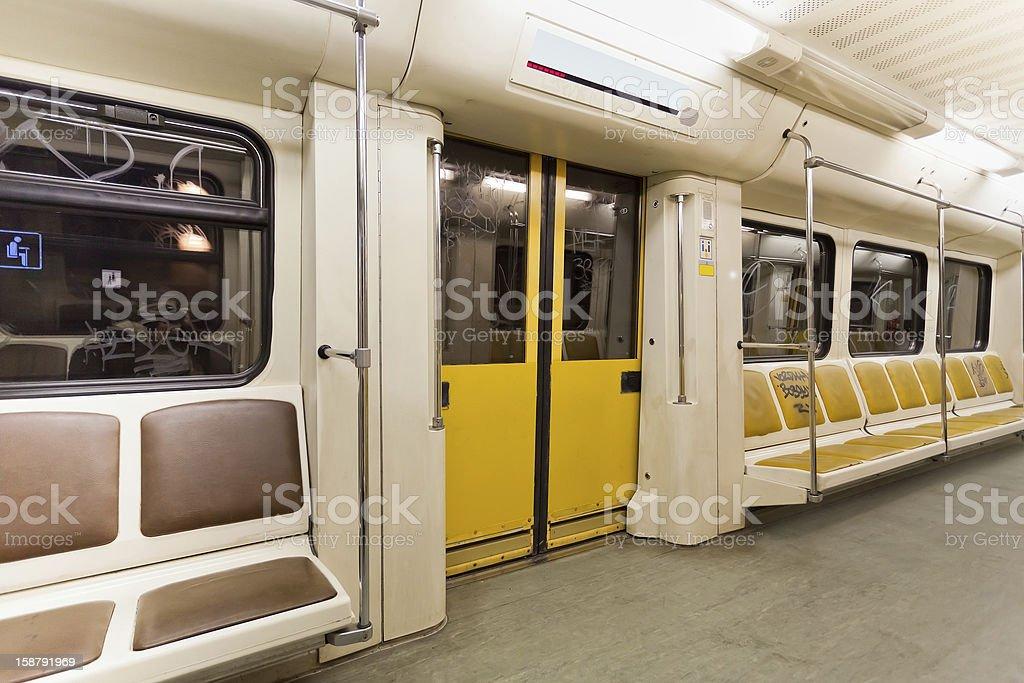 metro carriage stock photo