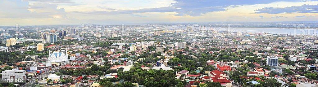 Metro Cebu at sunset royalty-free stock photo
