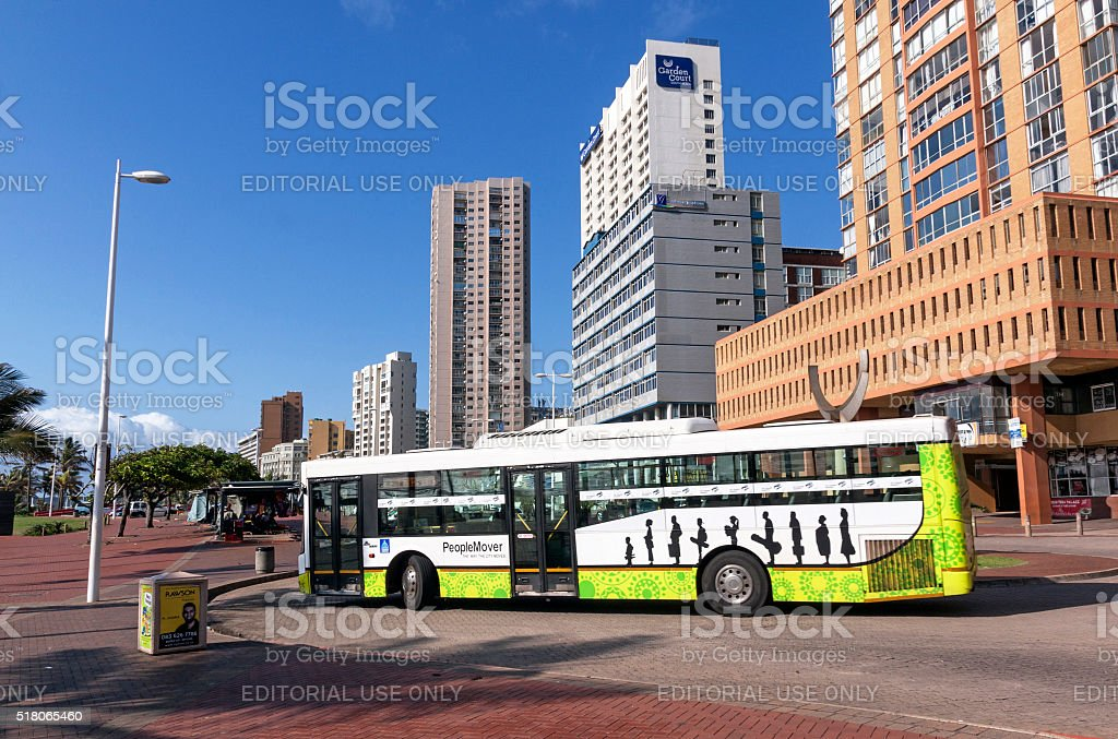 Metro City Bus in front of Hotels on Golden Mile stock photo