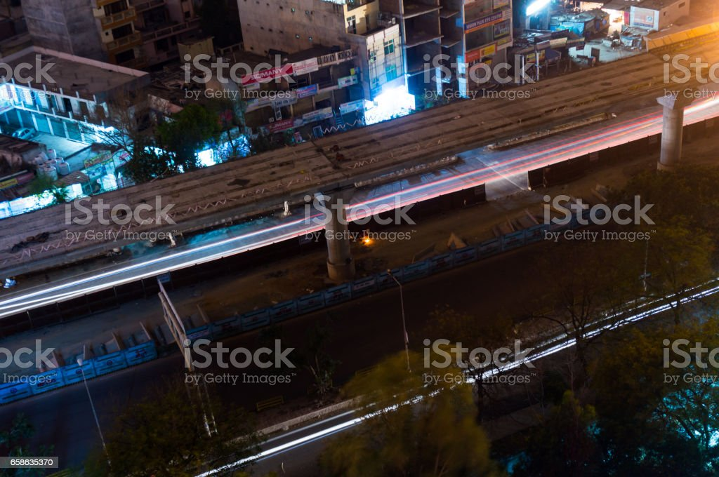 Metro construction In Noida stock photo