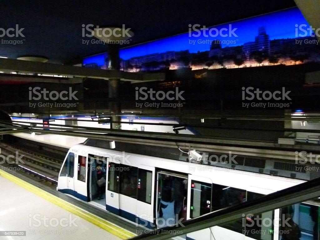 Metro de Madrid stock photo