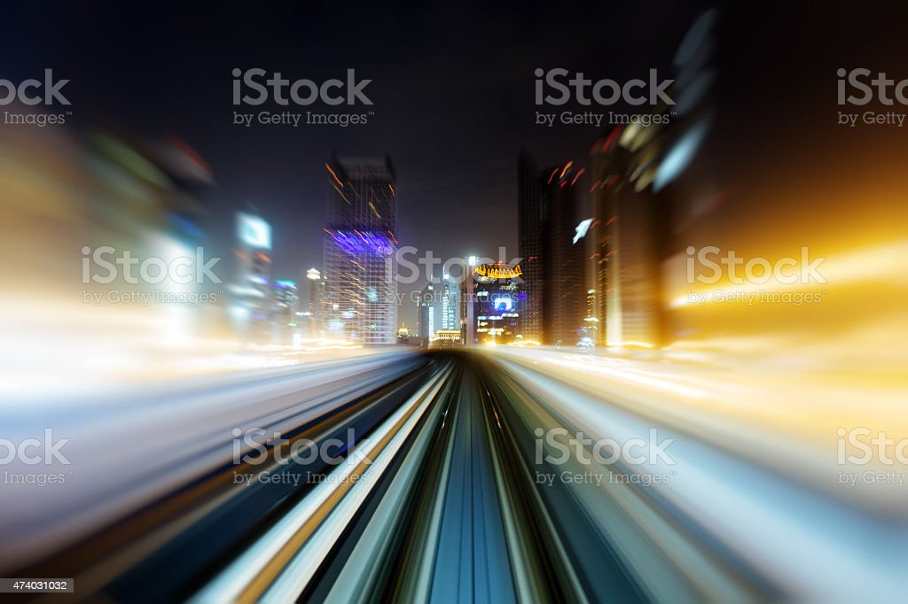 Metro Dubai stock photo