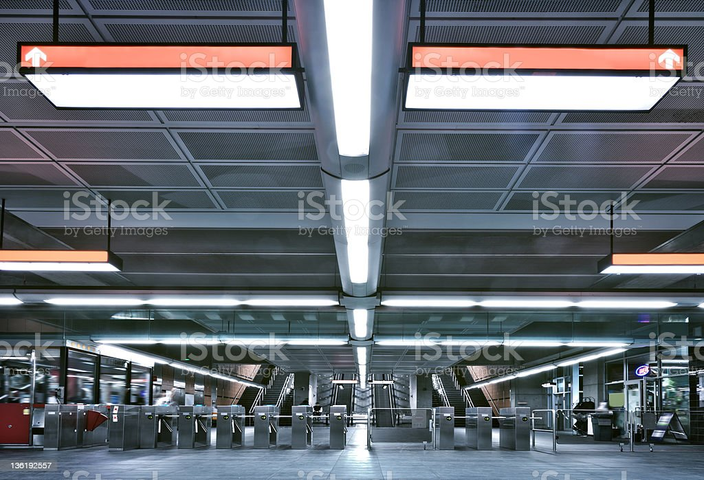 Metro entrance and gate royalty-free stock photo