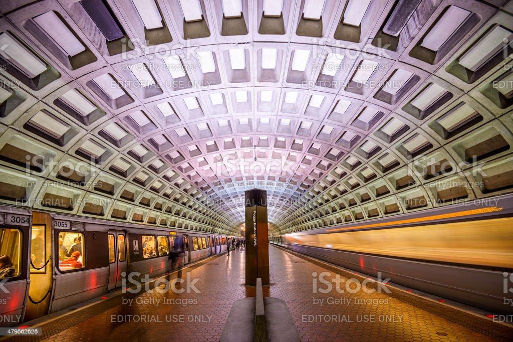 Metro in DC stock photo