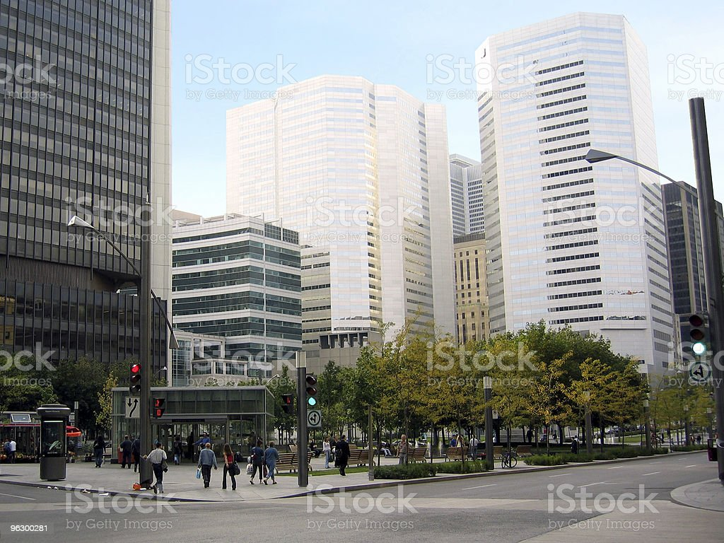 metro in financial district royalty-free stock photo
