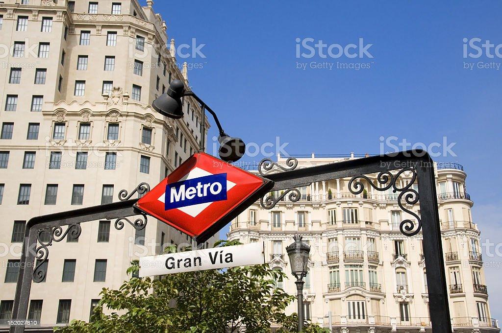Metro in Madrid stock photo