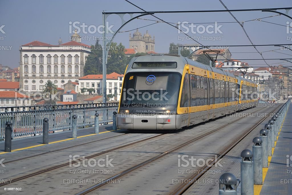 Metro in Porto center stock photo