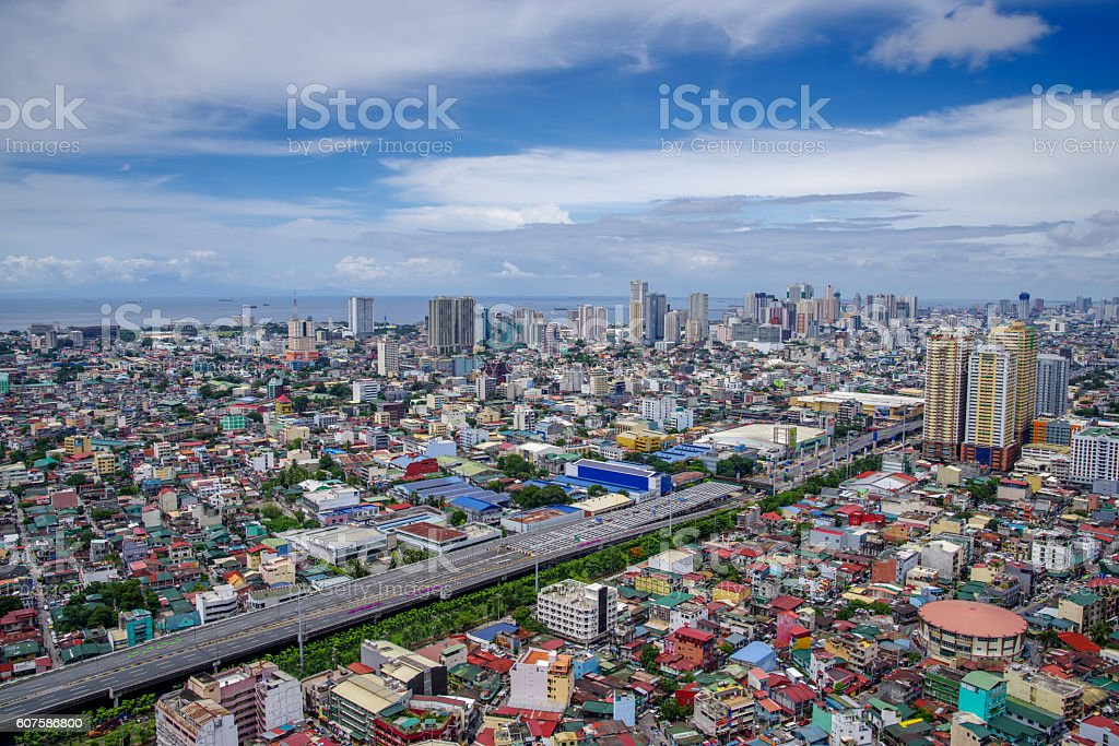 Metro Manila Philippines Skyline view stock photo