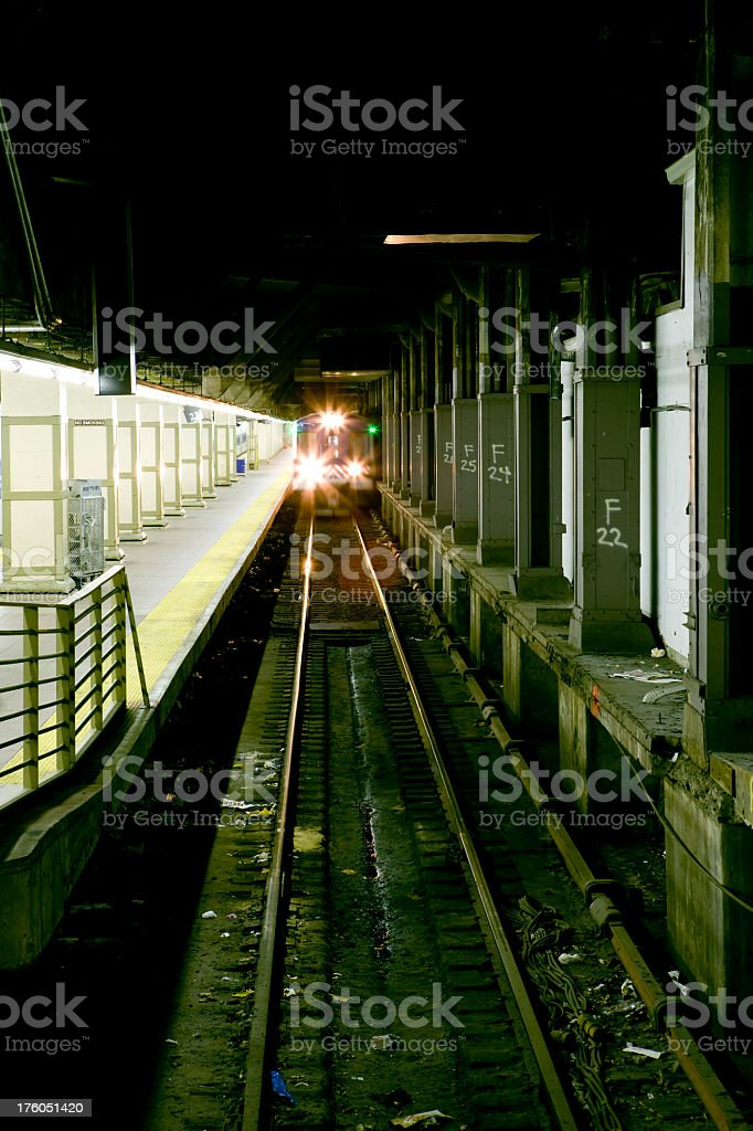 Metro North Train at Grand Central Terminal stock photo