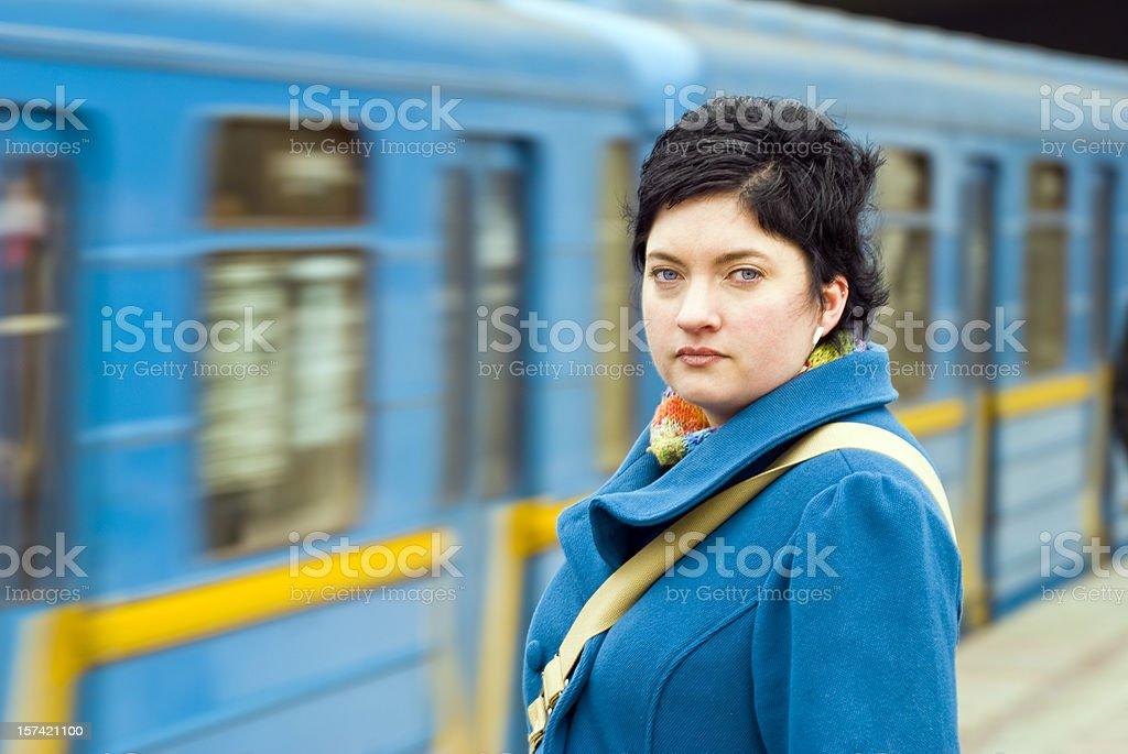 U-Bahn-Plattform Lizenzfreies stock-foto