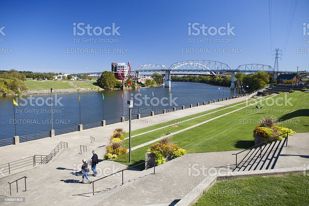 Metro Riverfront Park In Nashville, Tennessee stock photo