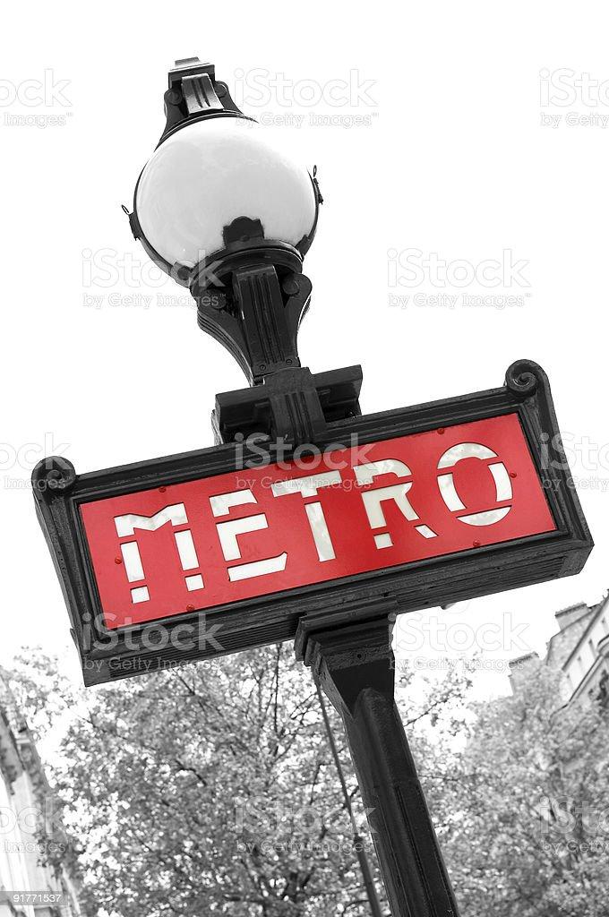 Metro shield in Paris Europe France royalty-free stock photo