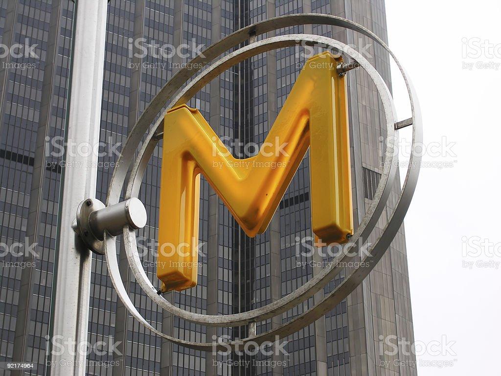 Metro Sign royalty-free stock photo