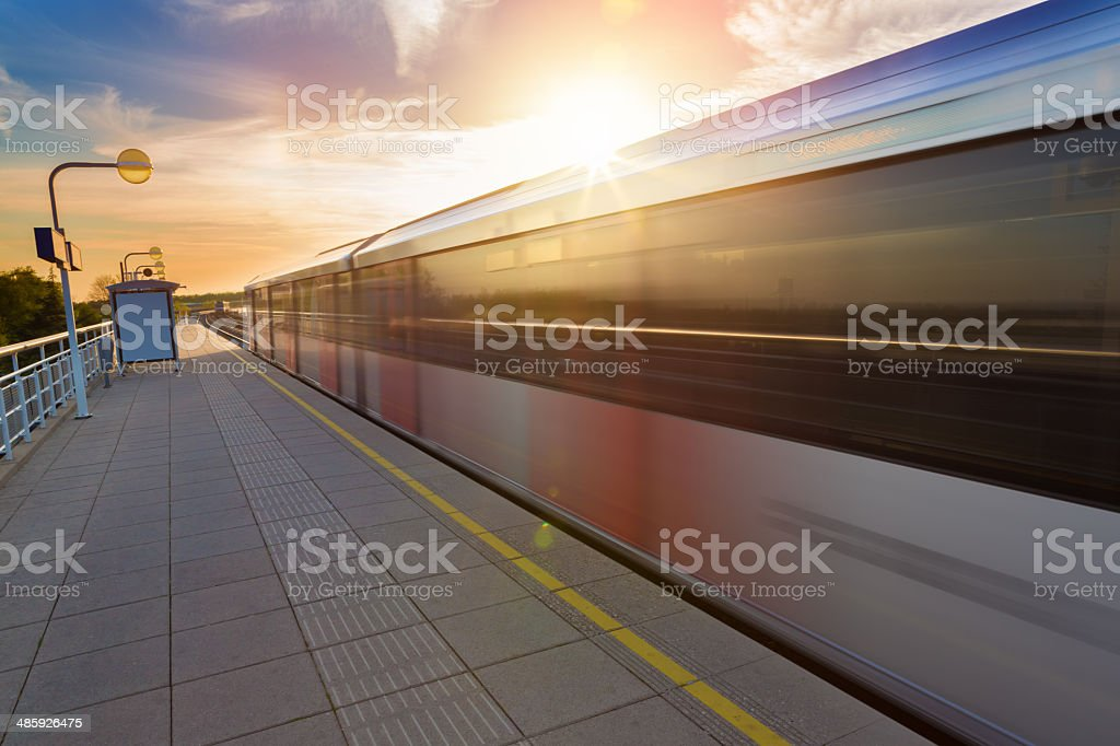 metro station in Amsterdam, The Netherlands stock photo