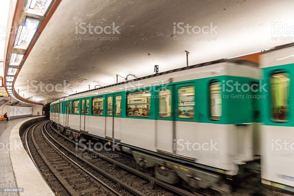 Metro Station in Paris ,France stock photo