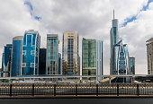 Metro station next to Sheik Zayed road in Dubai, UAE