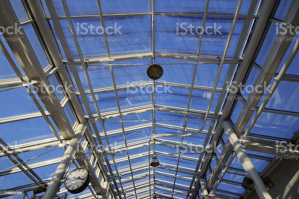 Metro station roof royalty-free stock photo