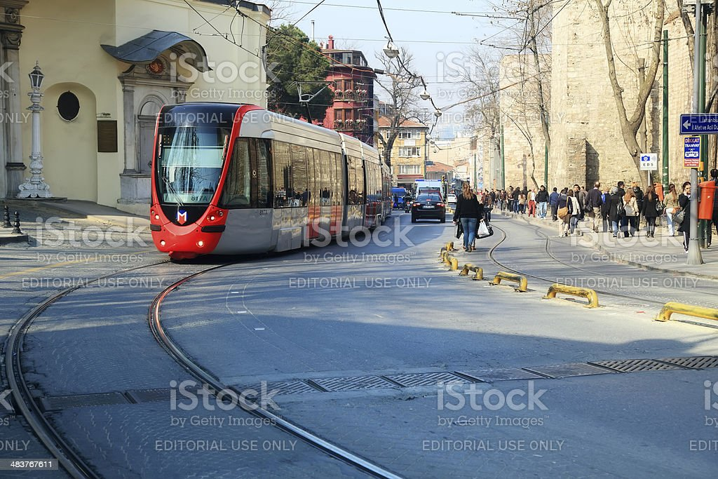 Metro Train from Istanbul royalty-free stock photo