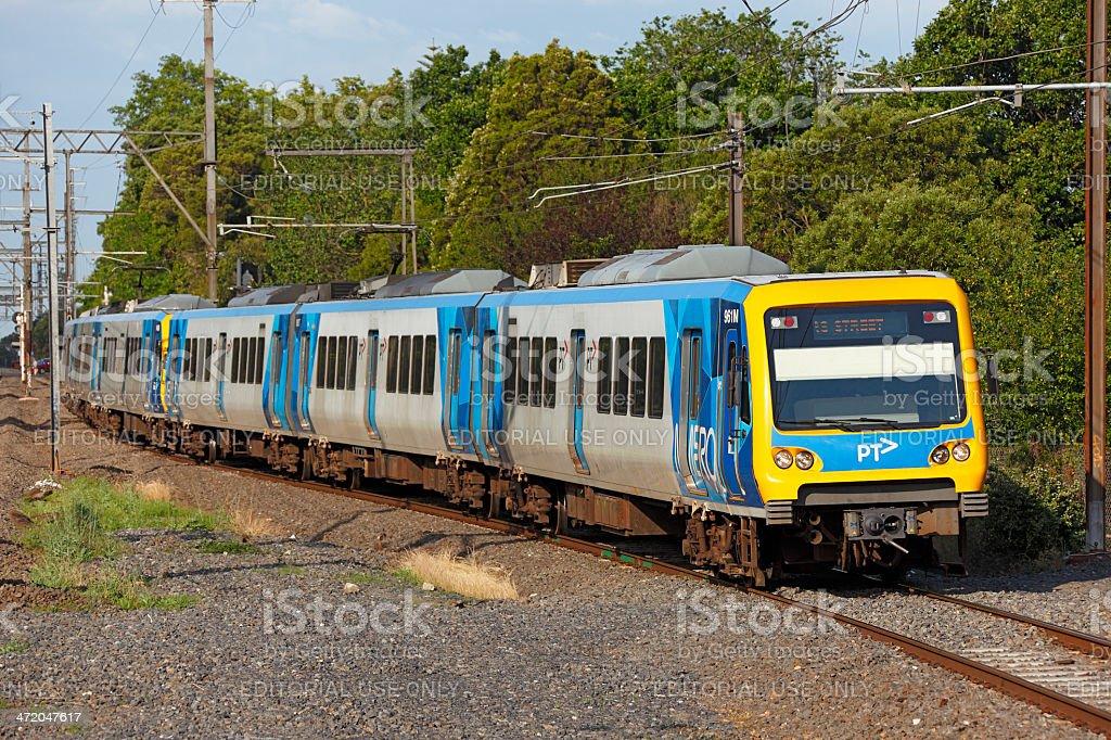 Metro train in Melbourne, Australia stock photo