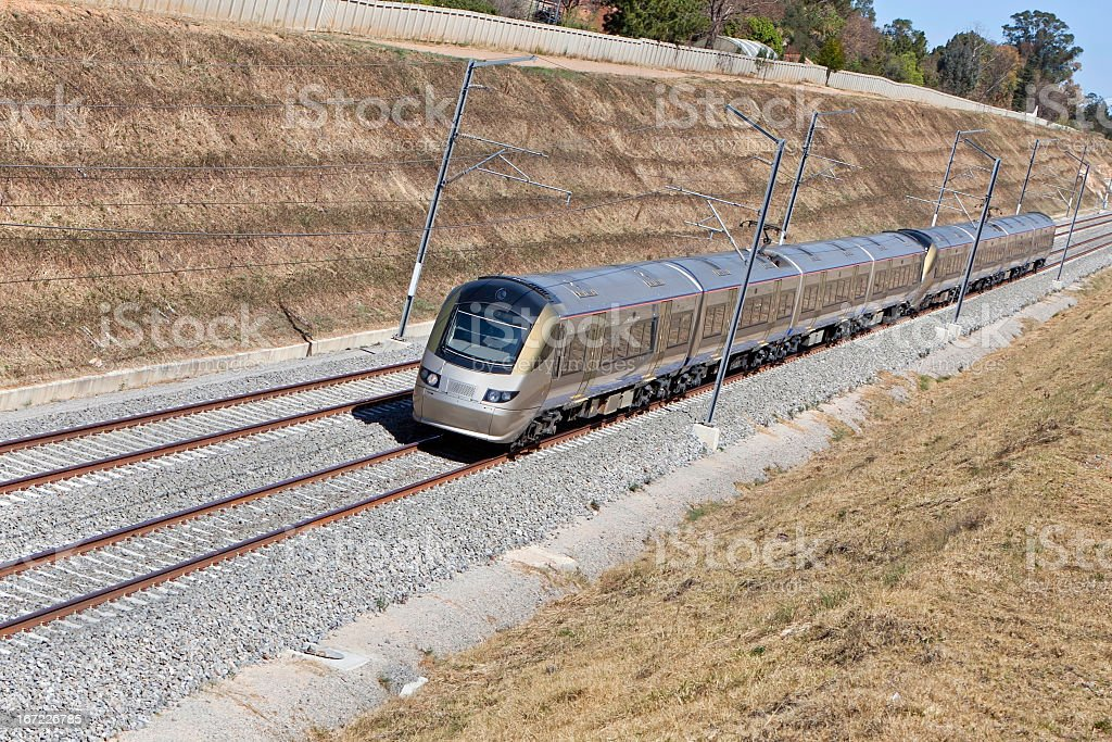 Metro Train in South Africa royalty-free stock photo