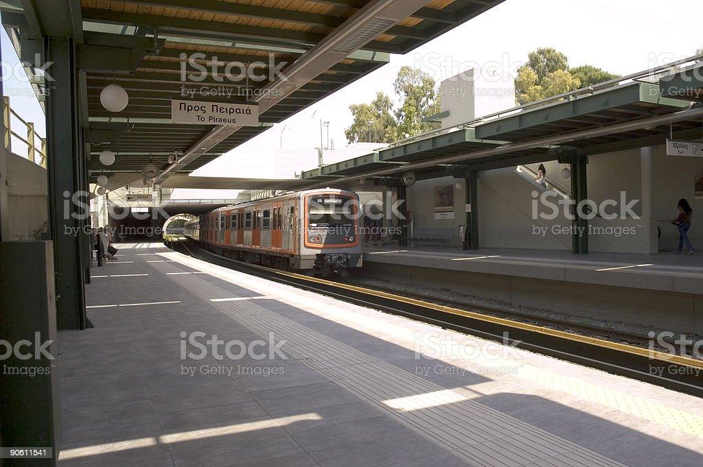Metro Train royalty-free stock photo