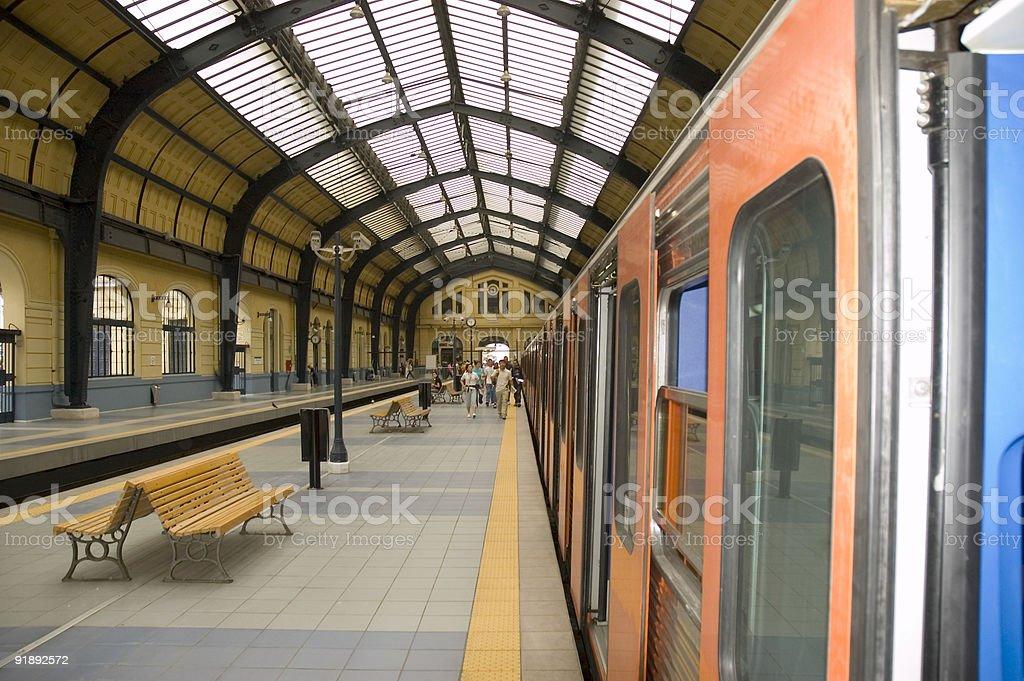 Metro Train Station royalty-free stock photo