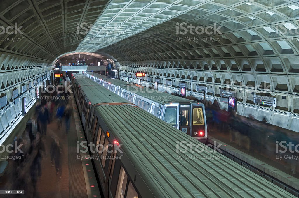 Metro trains stock photo
